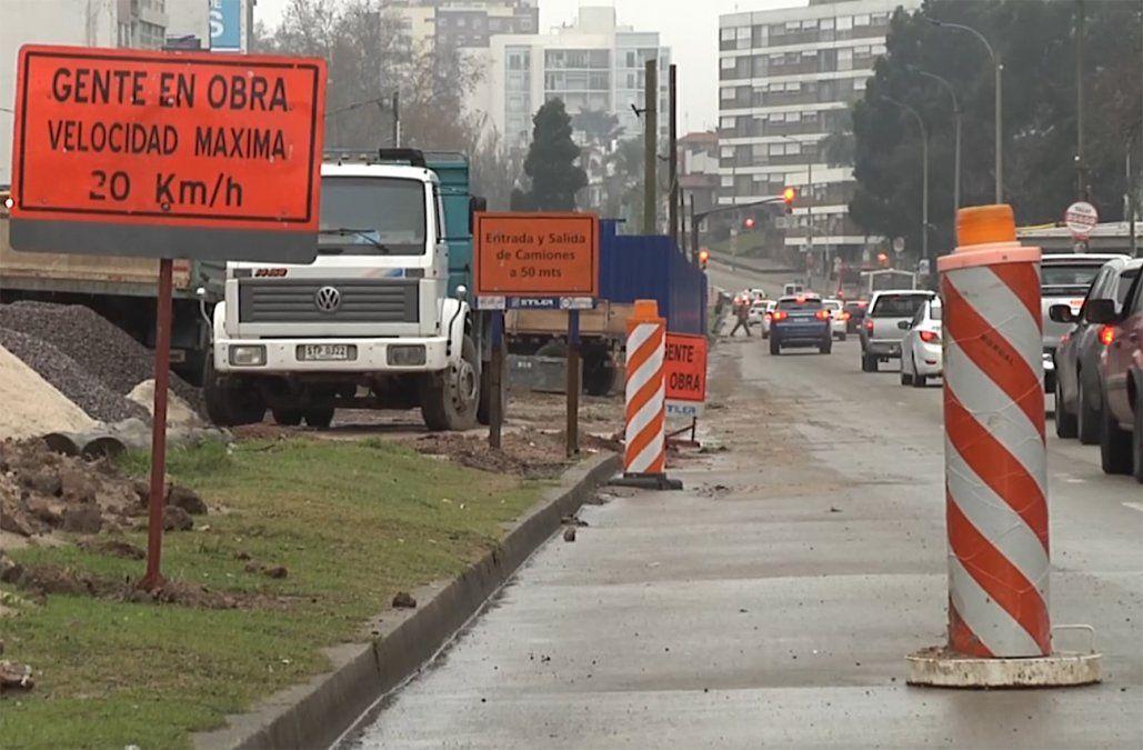 Más desvíos en la zona de avenida Italia por la construcción del túnel