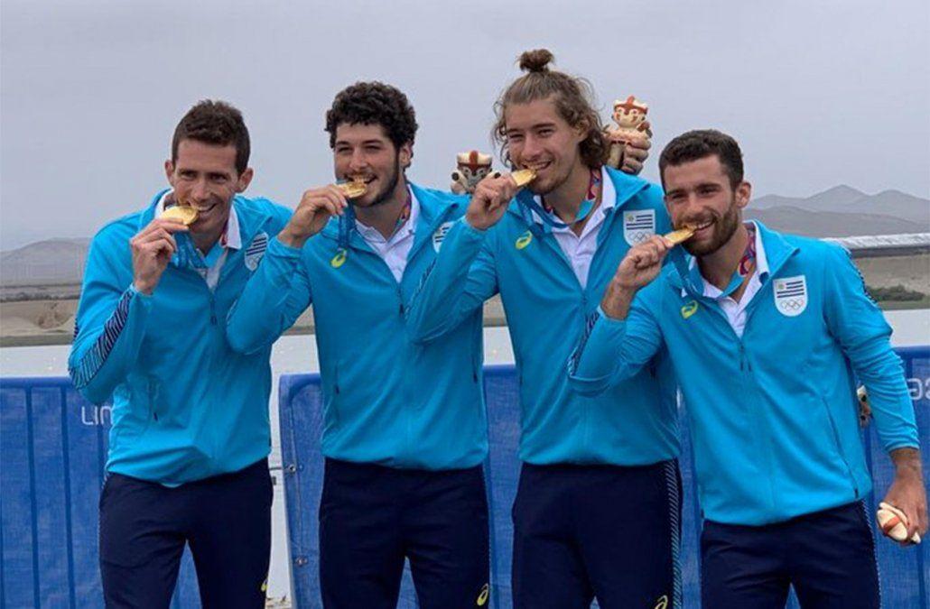 Juegos Panamericanos: medalla de oro para el cuarteto uruguayo de remeros