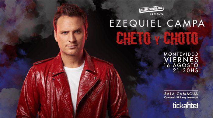 Ezequiel Campa presenta su unipersonal Cheto y choto en Sala Camacuá