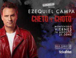 """Ezequiel Campa presenta su unipersonal """"Cheto y choto"""" en Sala Camacuá"""
