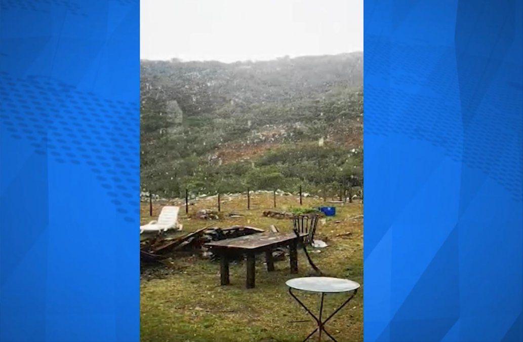 Nevó en Villa Serrana y se esperan temperaturas más bajas para los próximos días