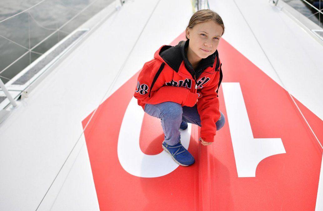 Greta Thunberg viaja a Nueva York a bordo de un velero cero emisiones