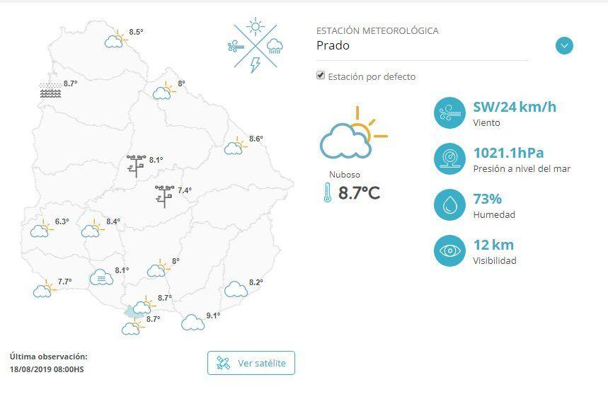 Domingo nuboso y de bajas temperaturas en todo el país