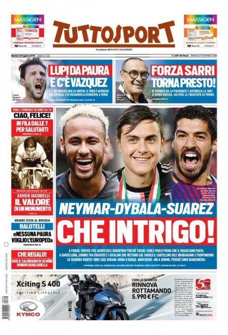 La tapa del diario deportivo italiano