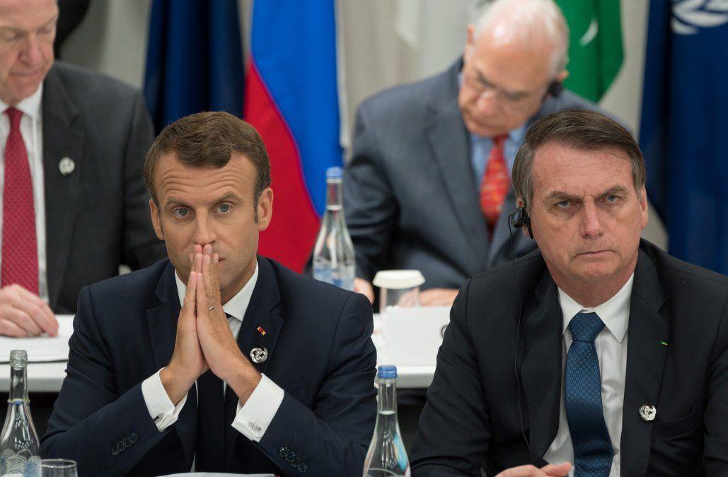 Macron y Bolsonaro en la Cumbre del G-20 de Osaka