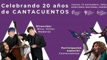 Orquesta Juvenil del Sodre y Cantacuentos juntos en concierto