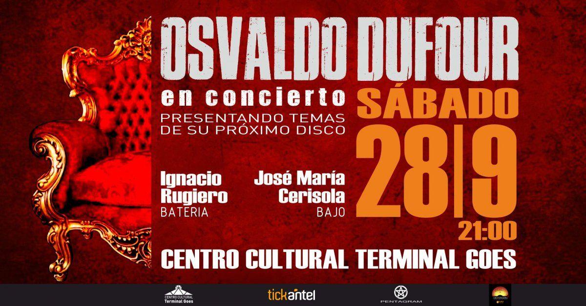 Osvaldo Dufour presenta en vivo su nuevo material