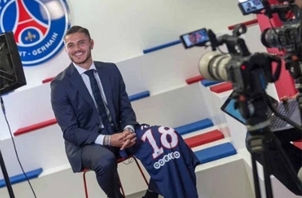 Mauro Icardi contento con su llegada a París
