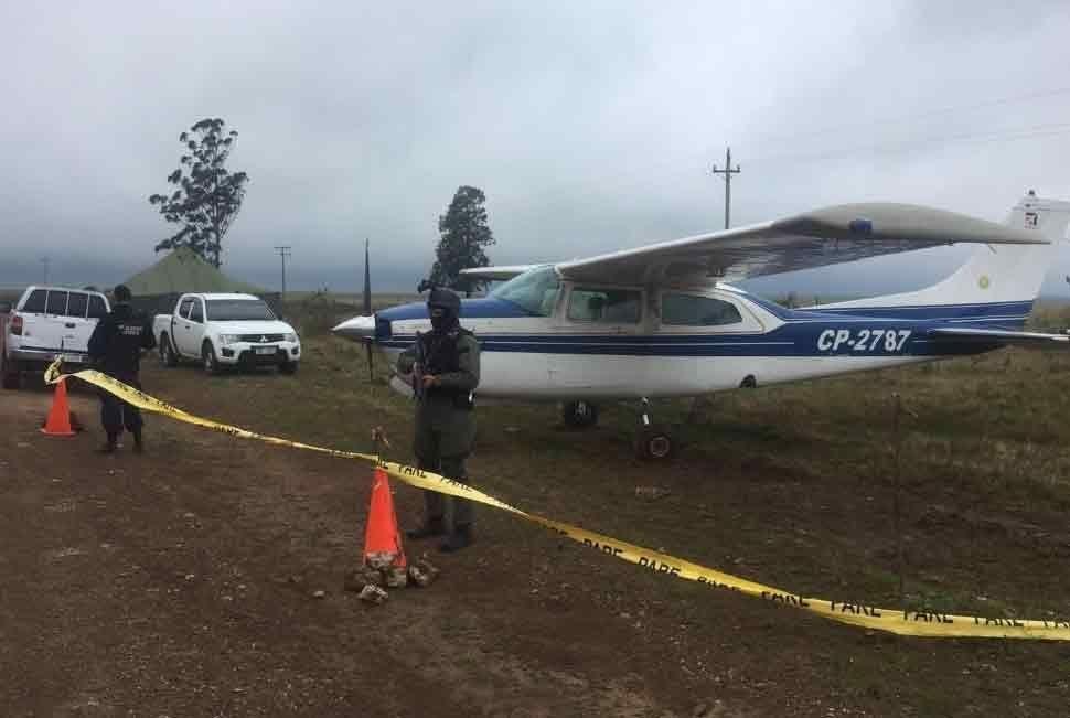 El Cessna del año 1984 tenía la matrícula adulterada. Había partido desde Santa Cruz de la Sierra