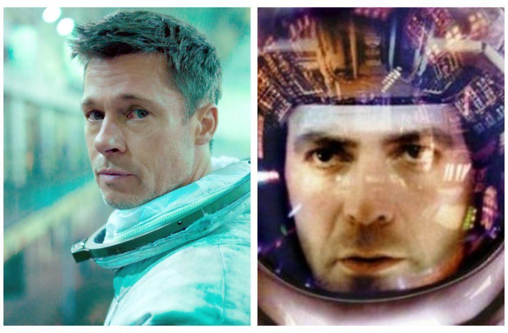 Brad Pitt en Ad Astra (2019) y George Clooney en Gravity (2013). Ambas estrellas son íntimos amigos y acostumbrar a hacerse bromas en público.