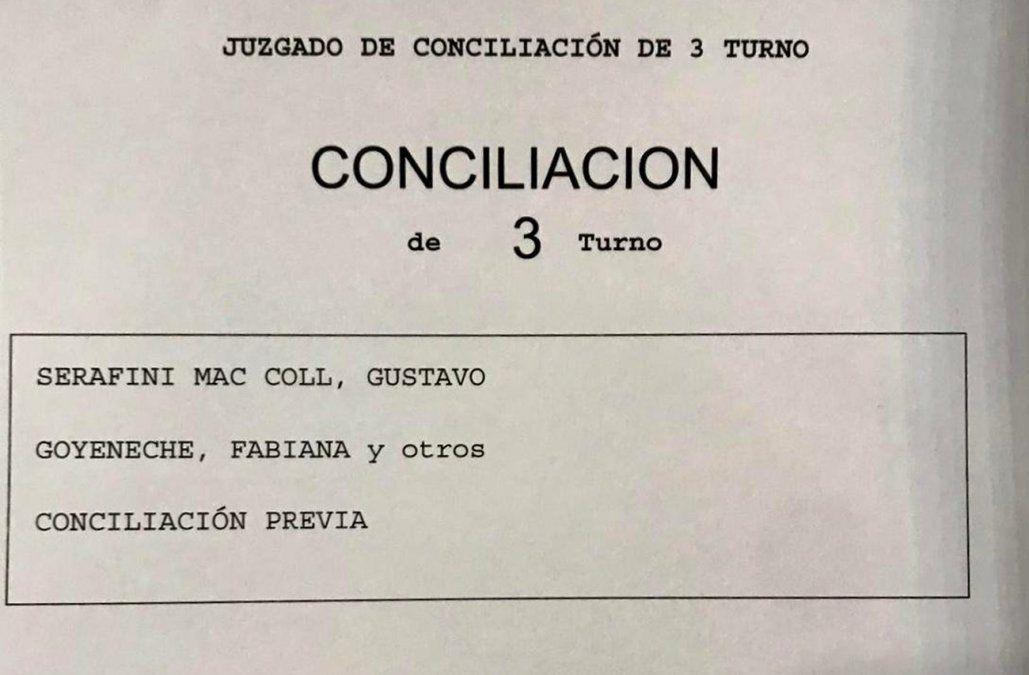 Audiencia de conciliación del Gucci con Martínez, Di Candia y Goyeneche será el 29 de octubre