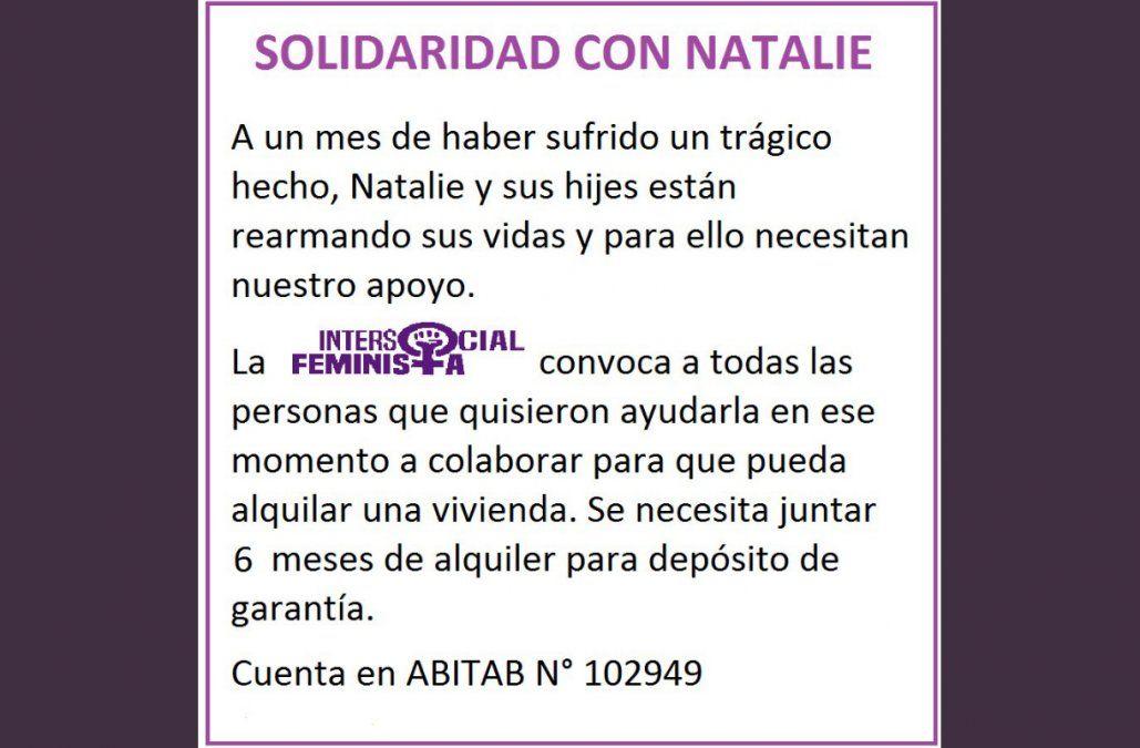 La Intersocial Feminista solicita la colaboración con Natalie y su familia