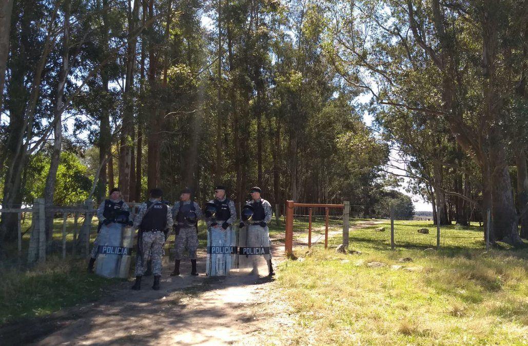 Foto: el lugar donde se haría la reconstrucción del crimen (Lorena Nachajón