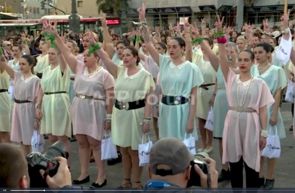 Una manifestación de Evitas contra las políticas de Mauricio Macri