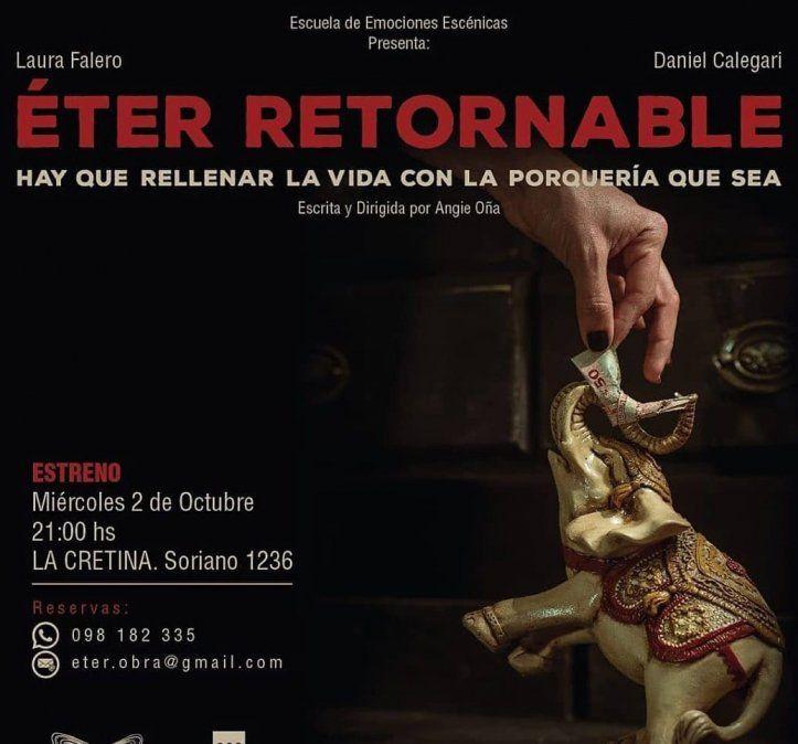 Éter retornable se presenta en octubre en La Cretina