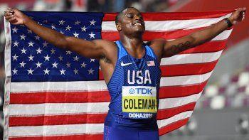 El favorito Coleman se cuelga el oro en 100 metros del Mundial de Doha