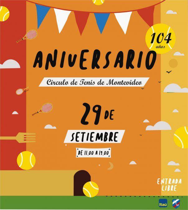 Círculo de tenis festeja 104 años con actividades gratuitas y al aire libre