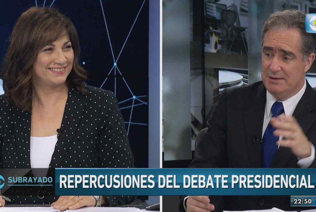El vaso de agua y el trencito, las bromas que no se vieron durante el debate