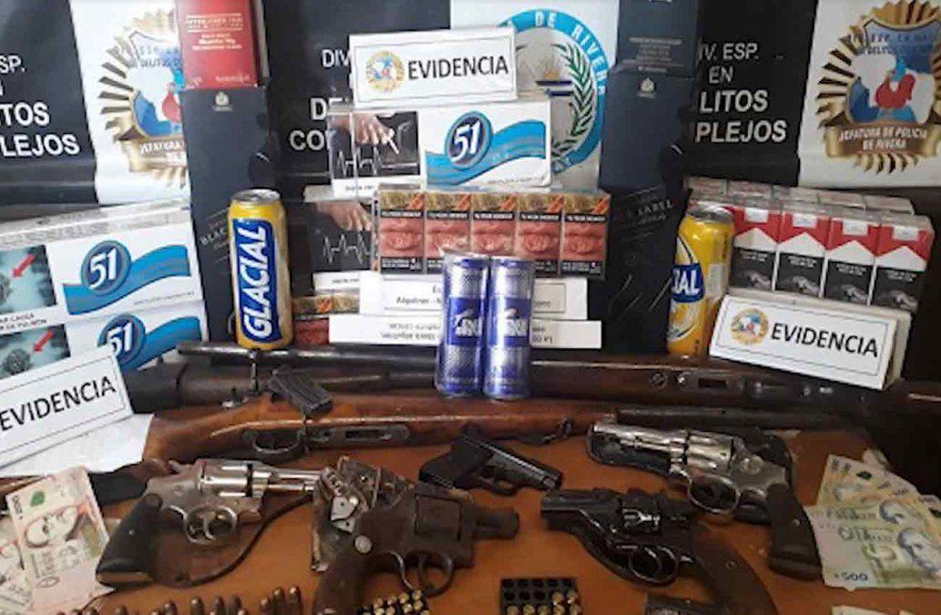 33 personas detenidas por contrabando tras operativo policial en Rivera
