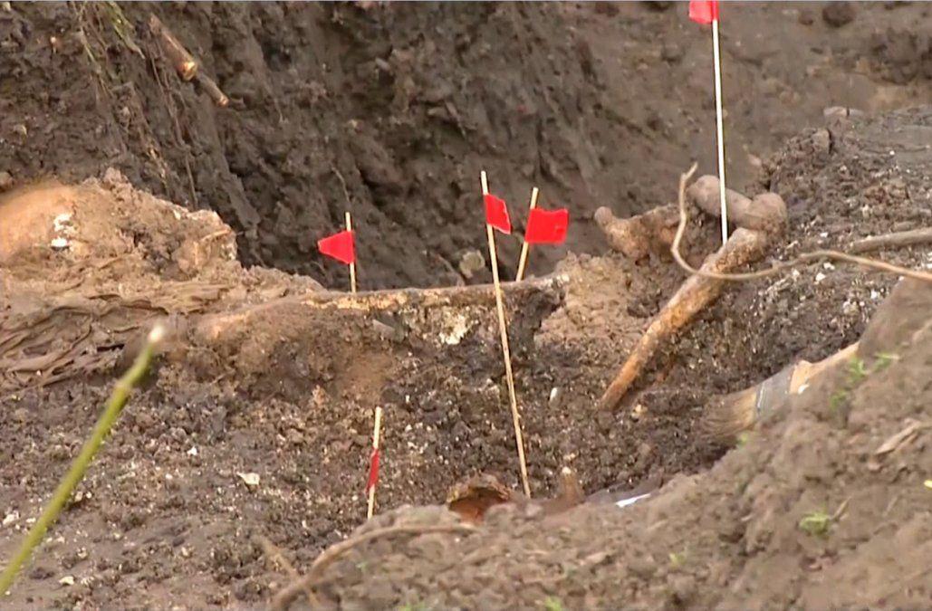 Foto: Así fueron hallados los restos de Bleier en el Batallón 13 a fines de agosto de este año.