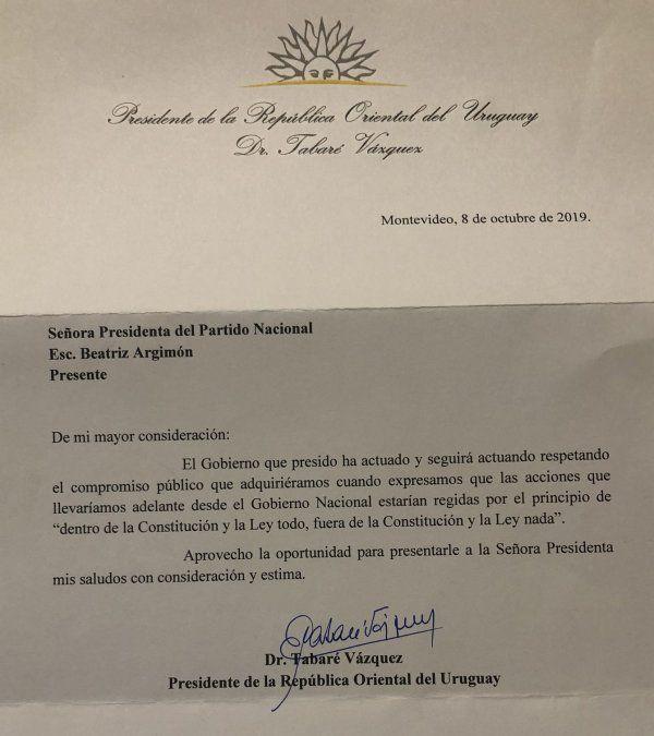 Vázquez respondió al reclamo del Partido Nacional sobre el uso del portal de Presidencia