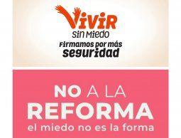 """Se postergó para el martes 22 la marcha contra la propuesta de reforma constitucional """"Vivir sin miedo"""""""