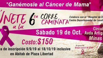 Lazos de vida organiza correcaminata para concientizar sobre el cáncer de mama