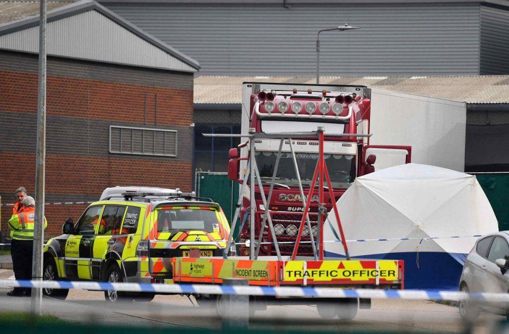 Los 39 muertos en un camión cerca de Londres eran chinos y fallecieron por hipotermia