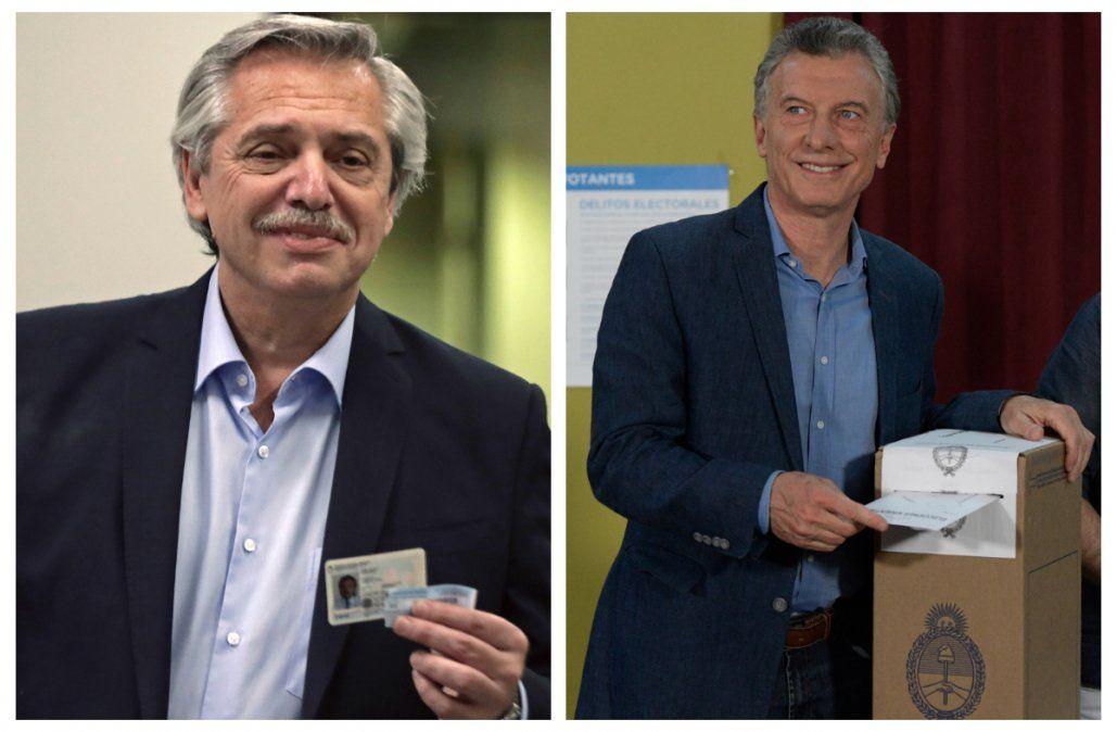 Tras votar, Macri llamó a las urnas y Alberto F. convocó a trabajar juntos