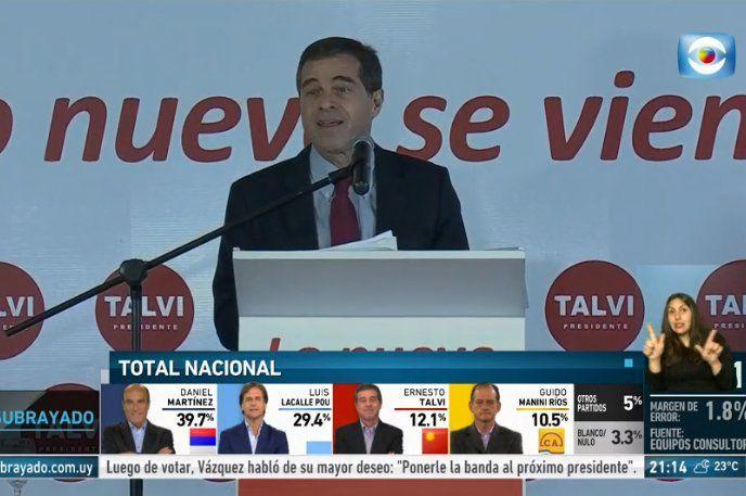 Talvi llamó a votar por Lacalle Pou y anunció que hará campaña por el candidato blanco