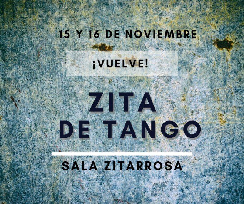 Zita de Tango llega por segunda vez a la Sala Zitarrosa