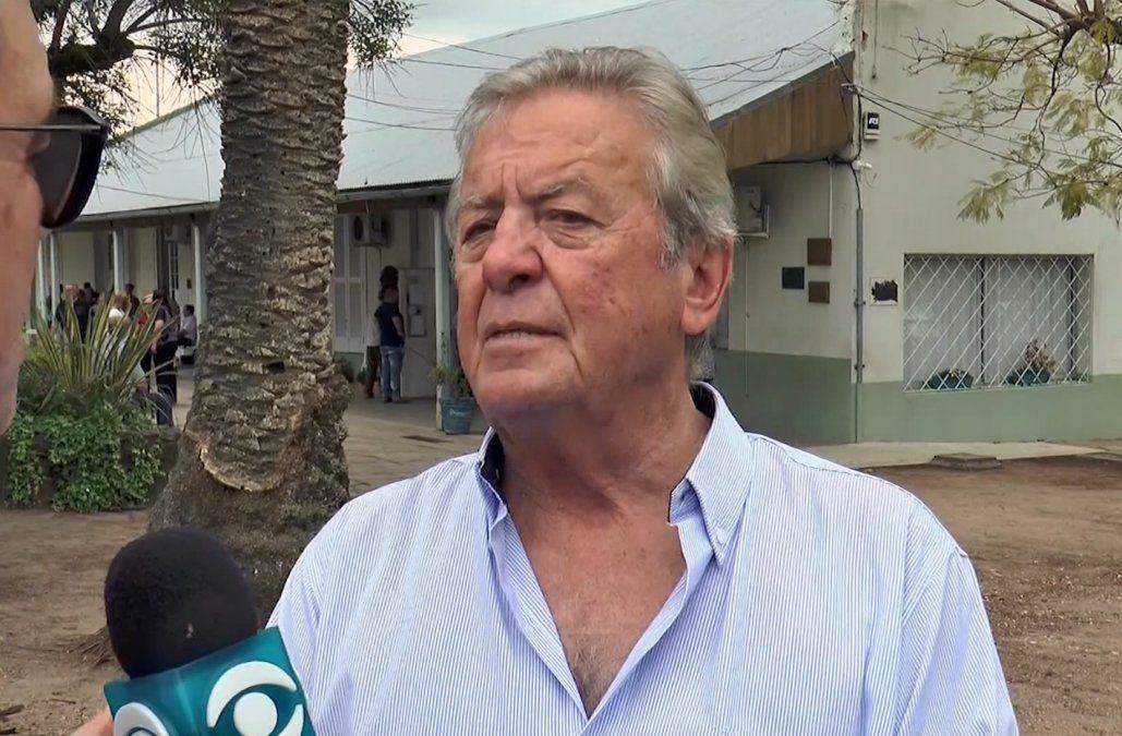 Foto: Carlos Moreira tras votar el domingo 27.