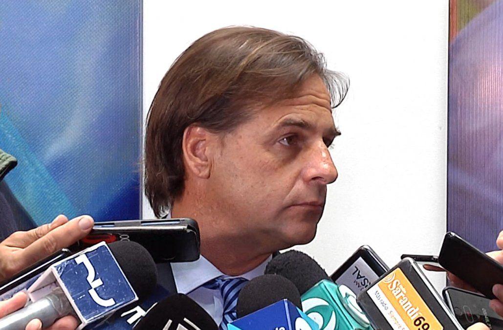 Lacalle Pou cuestionó a Bolsonaro por meterse en la campaña electoral de Uruguay