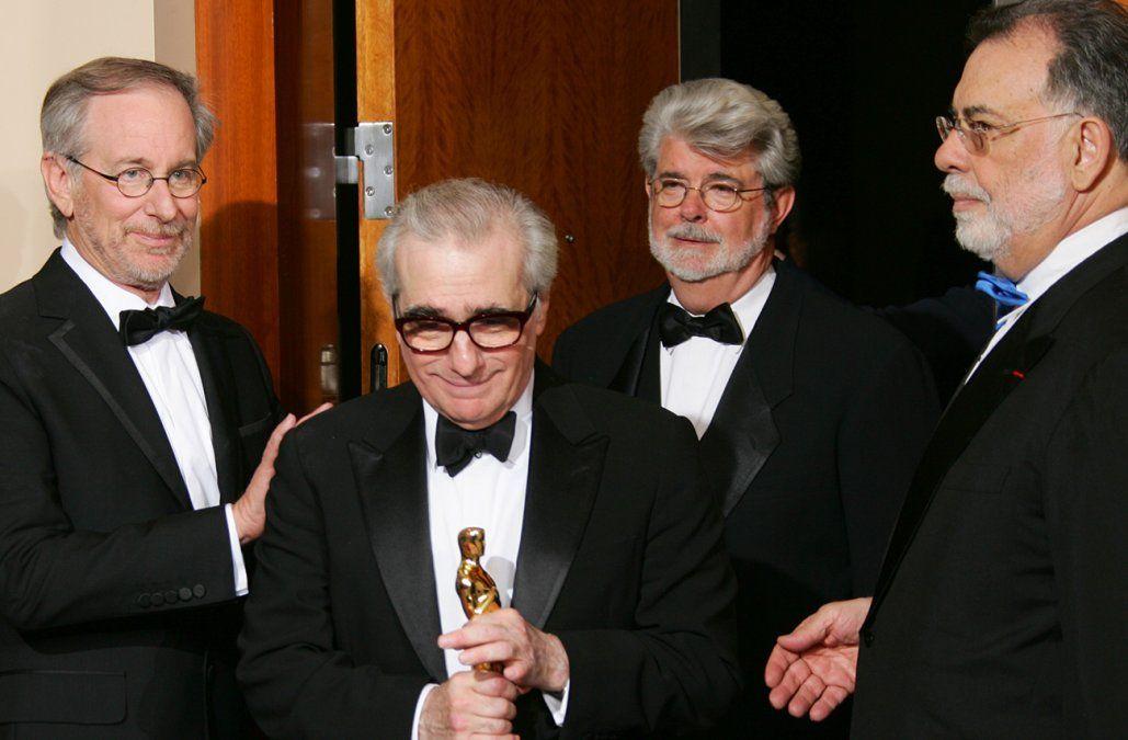 Martin Scorsese y Francis Ford Coppola junto a Steven Spielberg y George Lucas