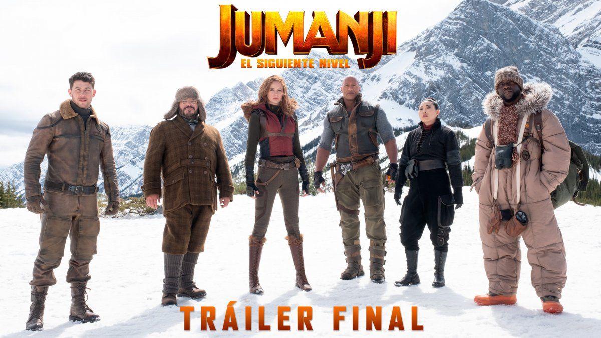 Lanzamiento del tráiler final de Jumanji: El Siguiente Nivel