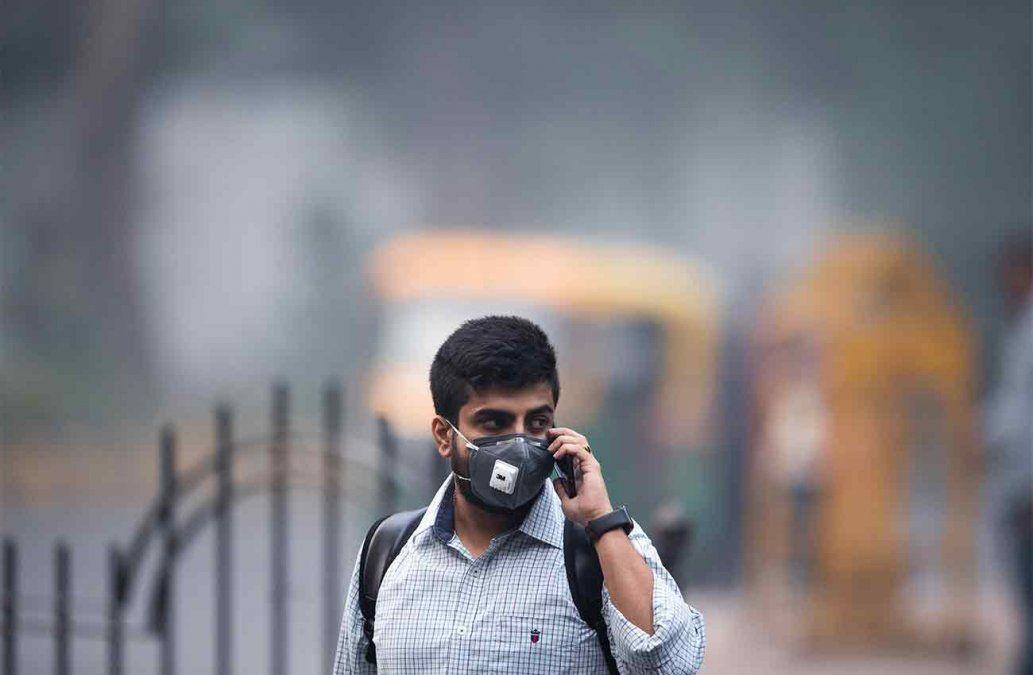 Millones de personas bajo una neblina contaminante en Nueva Delhi