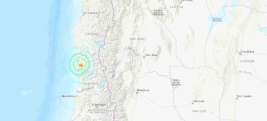 Un sismo de magnitud 6,1 sacudió la zona central de Chile