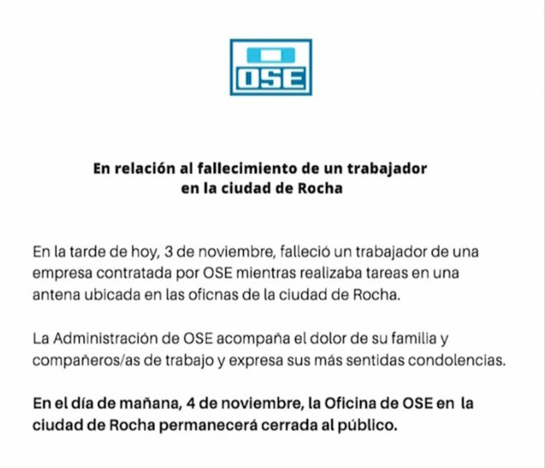 Ministerio constató graves y diversas irregularidades en accidente fatal con antena de OSE
