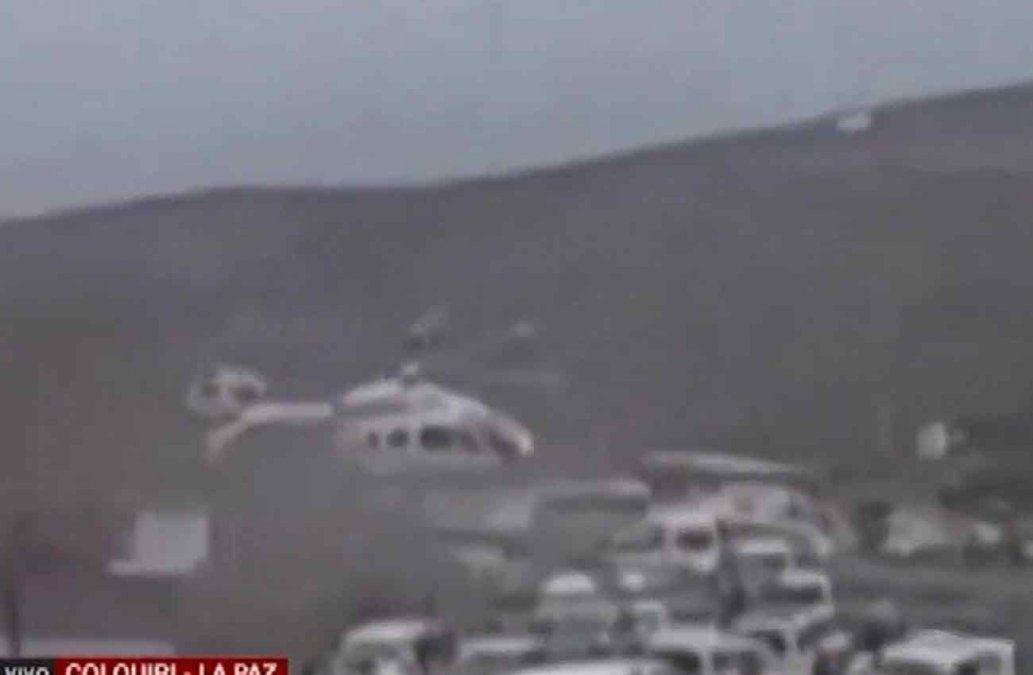 Helicóptero de Evo Morales aterriza de emergencia por falla mecánica en Bolivia