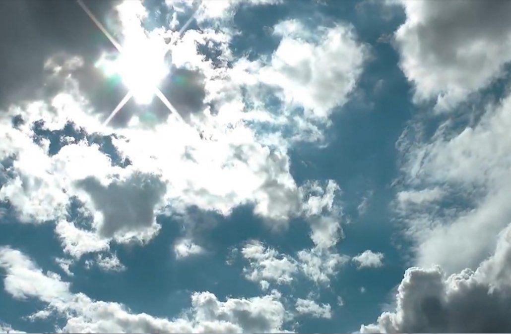 Domingo algo nuboso con temperatura primaveral en todo el país