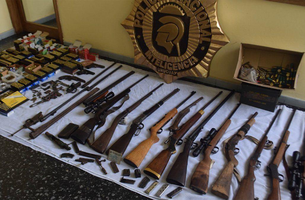 Incautaron un arsenal y detuvieron a cuatro sospechosos de tráfico internacional de armas