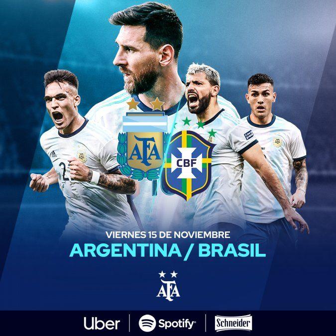Con gol de Messi, Argentina le gana 1-0 el amistoso a Brasil en Riad