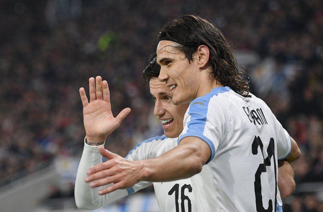 Uruguay le ganó 2-1 a Hungría el amistoso que se jugó en Budapest