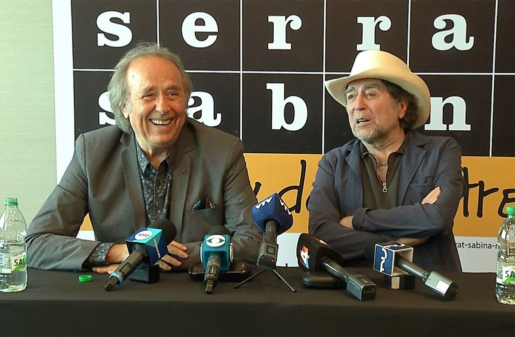 Serrat y Sabina presentan No hay dos sin tres en el Antel Arena