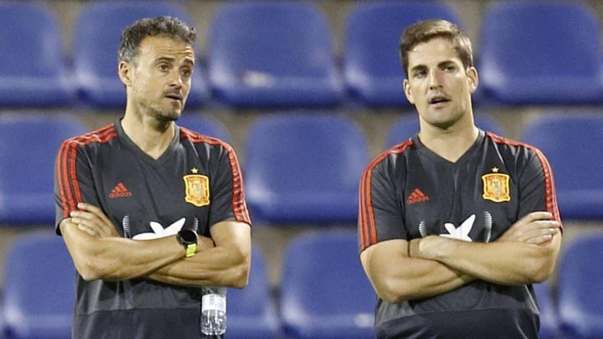 Luis Enrique y Robert Moreno en los tiempos en que trabajaron juntos. La amistad se había cimentado en Barcelona B. El asturiano lo llevó con él cuando firmó con la Roma.