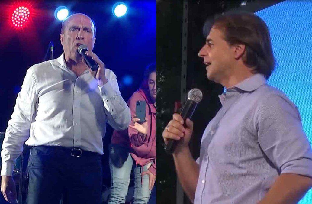 Cierres de campaña: Lacalle Pou en Las Piedras y Daniel Martínez en Florida