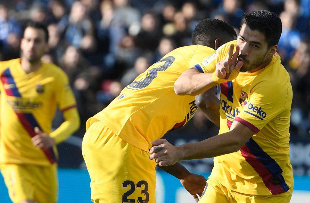 Con goles de Suárez y Vidal, Barcelona derrotó 2-1 a Leganés