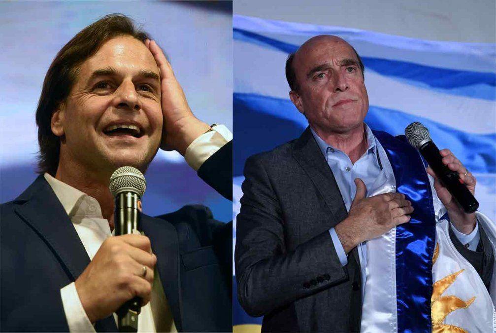 Promedio de todas las encuestas: Lacalle Pou 50.68% y Martínez 43.96%