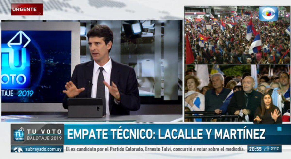 Empate técnico entre Lacalle Pou y Daniel Martínez, hay que esperar por resultado oficial de la Corte