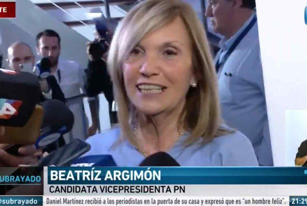 La fórmula del Partido Nacional esperará los resultados oficiales, dijo Beatriz Argimón